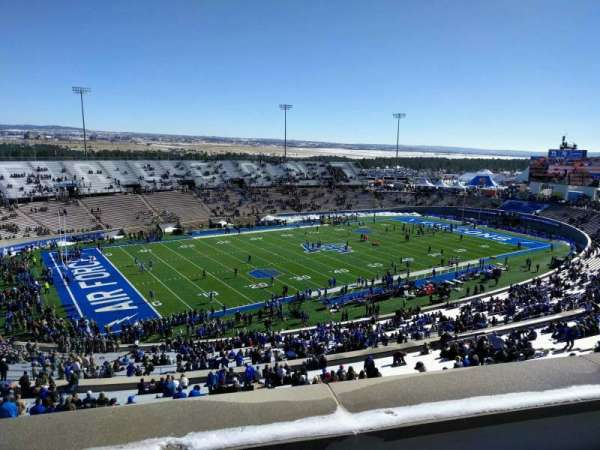 Falcon Stadium, section: u11, row: e, seat: 23