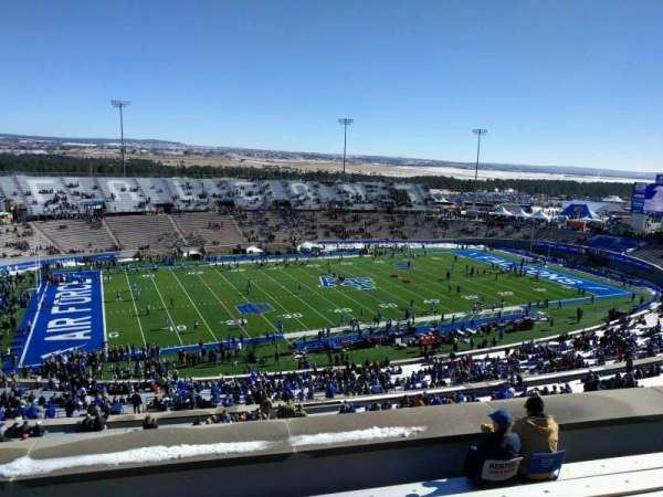 Falcon Stadium, section: u10, row: h, seat: 17