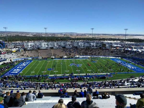 Falcon Stadium, section: u7, row: t, seat: 13