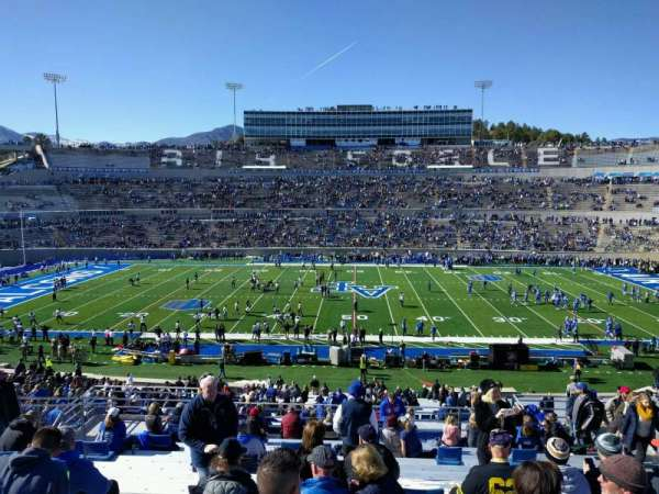 Falcon Stadium, section: m21, row: s, seat: 12