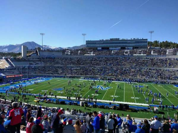 Falcon Stadium, section: m21, row: x, seat: 23
