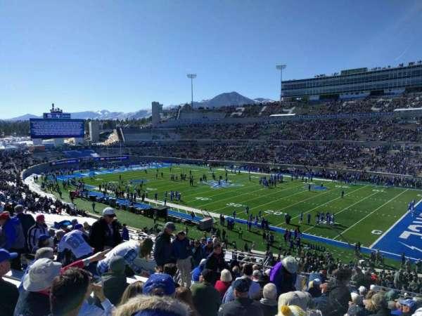 Falcon Stadium, section: m19, row: r, seat: 20