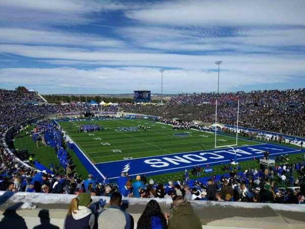Falcon Stadium, section: m1, row: f, seat: 12