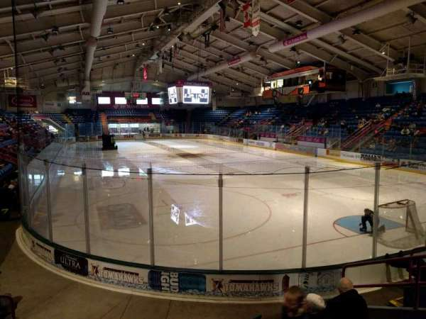 1st Summit Arena, section: 19, row: g, seat: 3