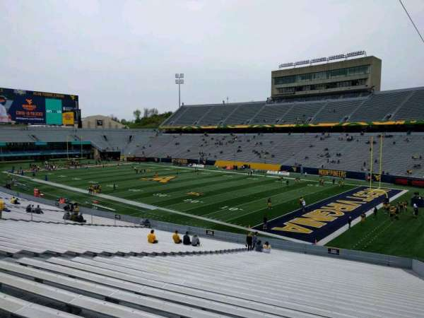 Mountaineer Field, section: 110, row: 40, seat: 10