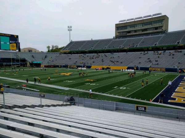 Mountaineer Field, section: 109, row: 20, seat: 113