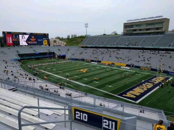 Mountaineer Field, section: 211, row: 12, seat: 8