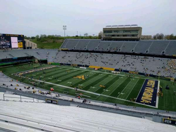 Mountaineer Field, section: 209, row: 28, seat: 12
