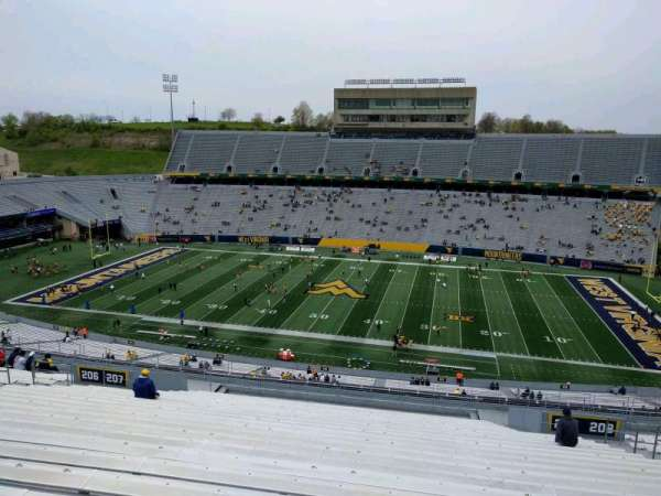 Mountaineer Field, section: 207, row: 26, seat: 12