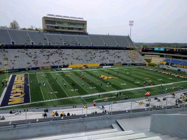 Mountaineer Field, section: 203, row: 9, seat: 7