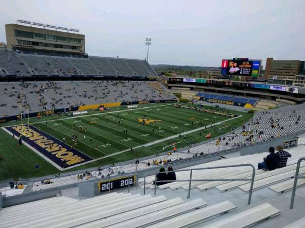 Mountaineer Field, section: 201, row: 21, seat: 8