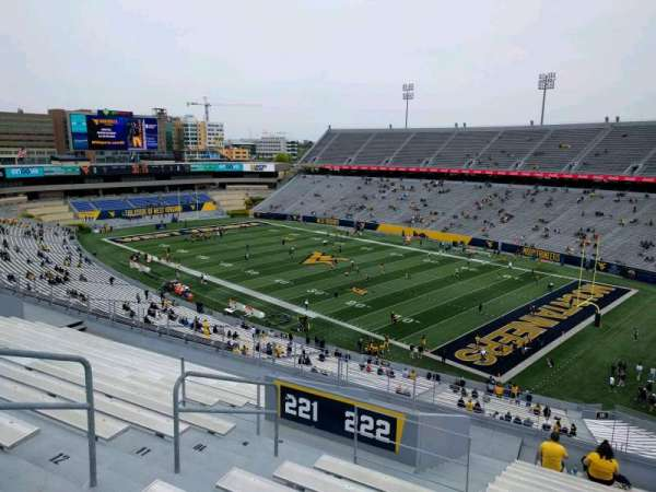 Mountaineer Field, section: 222, row: 15, seat: 6