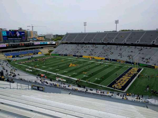 Mountaineer Field, section: 221, row: 23, seat: 123