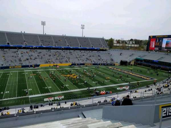 Mountaineer Field, section: 215, row: 12, seat: 123