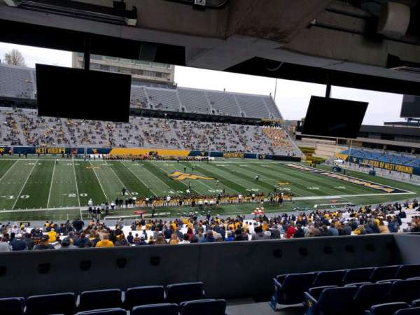 Mountaineer Field, section: field box 12, row: f, seat: 103