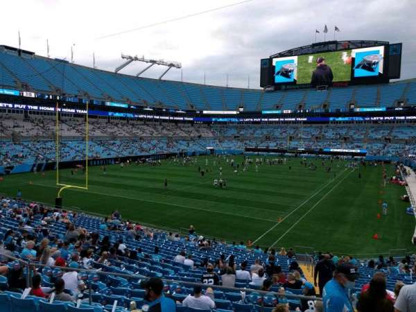 Bank of America Stadium, section: 226, row: 2, seat: 7