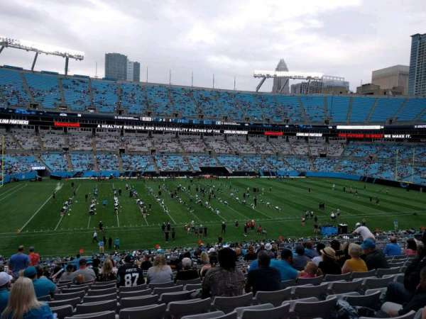 Bank of America Stadium, section: 346, row: 18, seat: 16