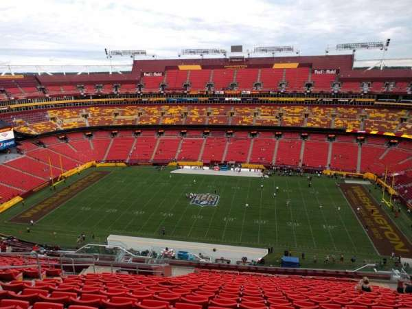 FedEx Field, section: 426, row: 19, seat: 17