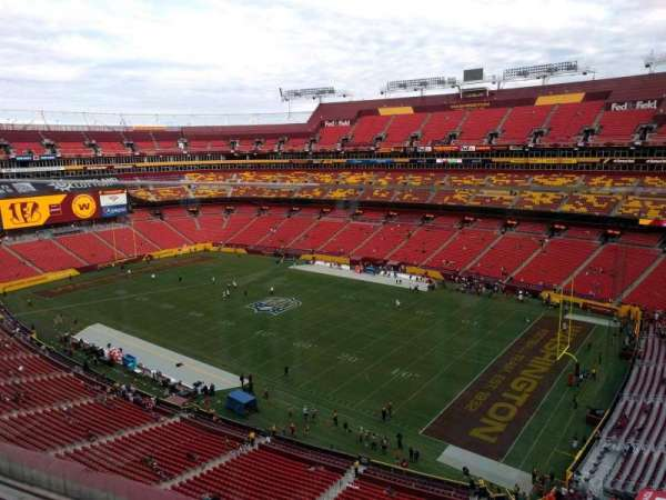 FedEx Field, section: 422, row: 1, seat: 8