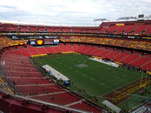 FedEx Field, section: 421, row: 3, seat: 3