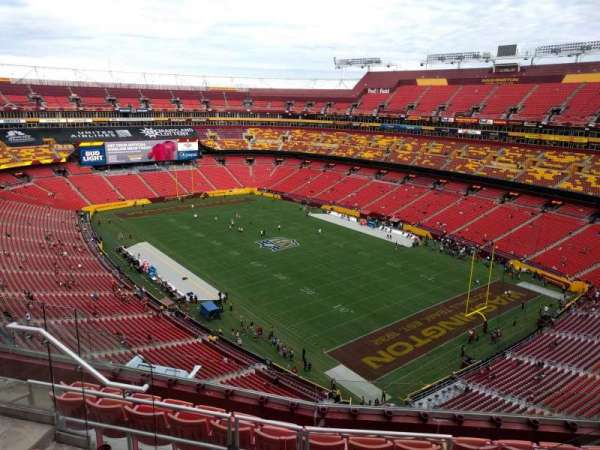 FedEx Field, section: 420, row: 7, seat: 8