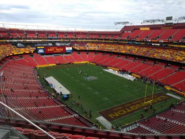 FedEx Field, section: 419, row: 6, seat: 12