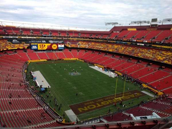 FedEx Field, section: 418, row: 5, seat: 7