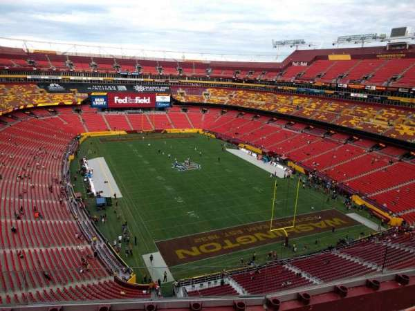 FedEx Field, section: 417, row: 4, seat: 12