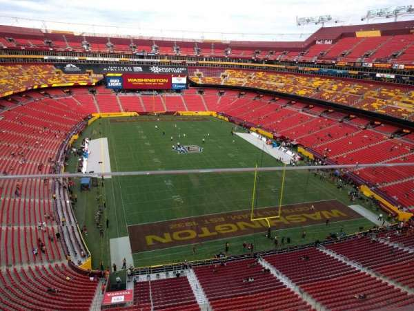 FedEx Field, section: 416, row: 1, seat: 14