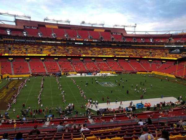 FedEx Field, section: 303, row: 12, seat: 15