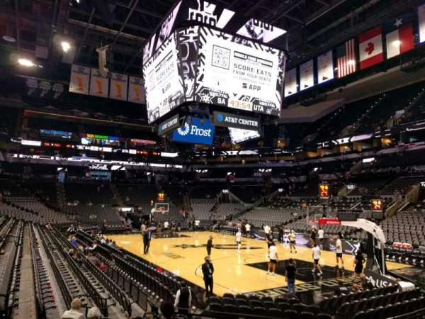 AT&T Center, section: 117, row: 15, seat: 8