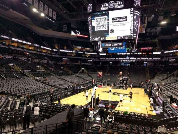 AT&T Center, section: 113, row: 18, seat: 7