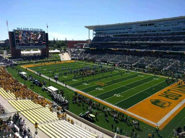 McLane Stadium, section: 319, row: 1, seat: 18