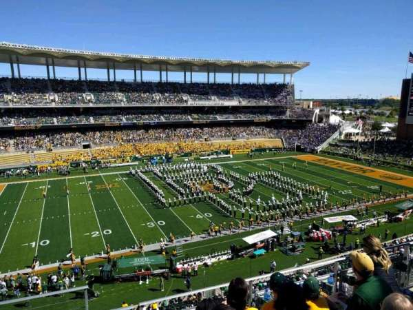 McLane Stadium, section: 308, row: 4, seat: 25