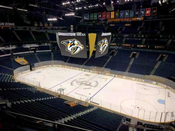 Bridgestone Arena, section: 328, row: c, seat: 9