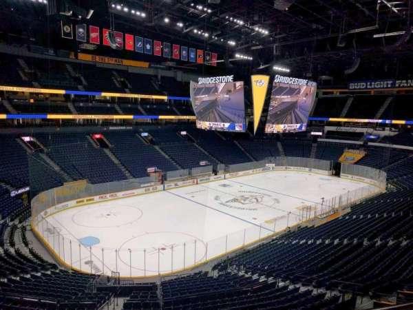 Bridgestone Arena, section: 205, row: f, seat: 8