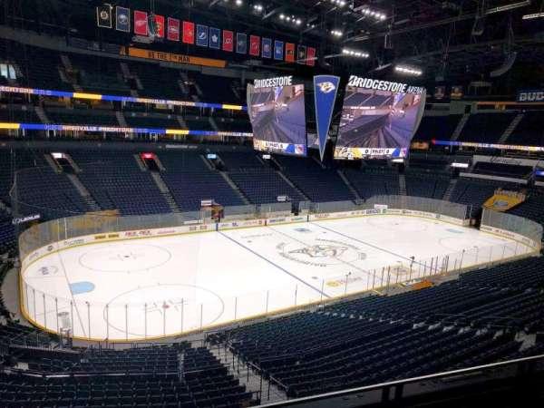Bridgestone Arena, section: 206, row: f, seat: 8