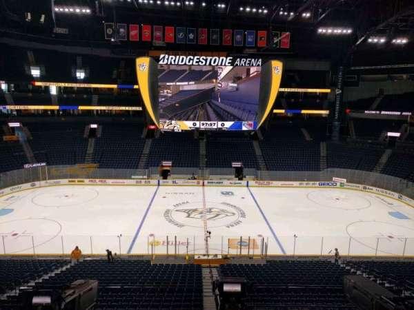 Bridgestone Arena, section: 209, row: g, seat: 6