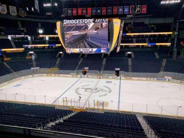 Bridgestone Arena, section: 210, row: f, seat: 10