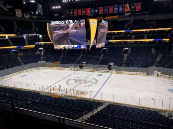 Bridgestone Arena, section: 211, row: f, seat: 5