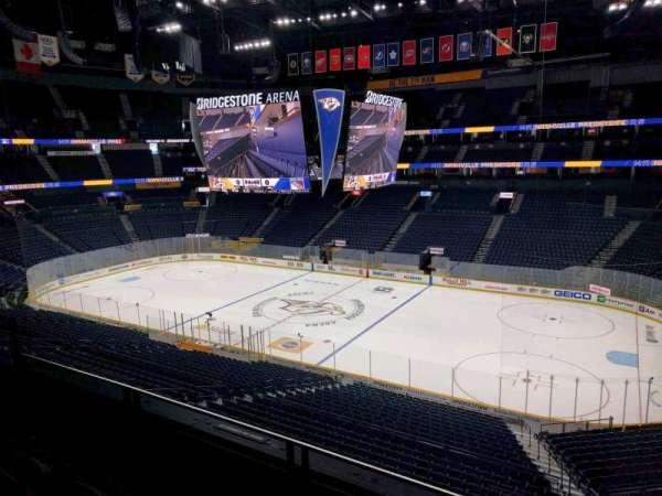 Bridgestone Arena, section: 212, row: f, seat: 9