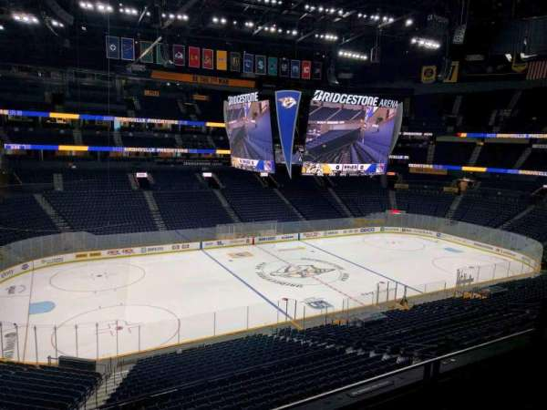 Bridgestone Arena, section: 213, row: f, seat: 8