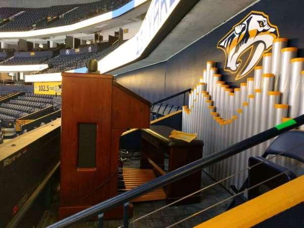Bridgestone Arena, section: 120, row: m, seat: 1