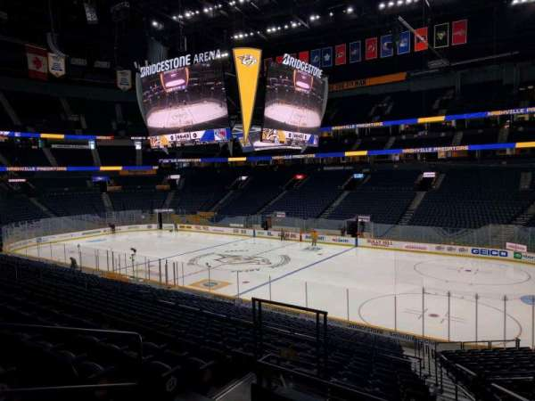 Bridgestone Arena, section: 108, row: m, seat: 6