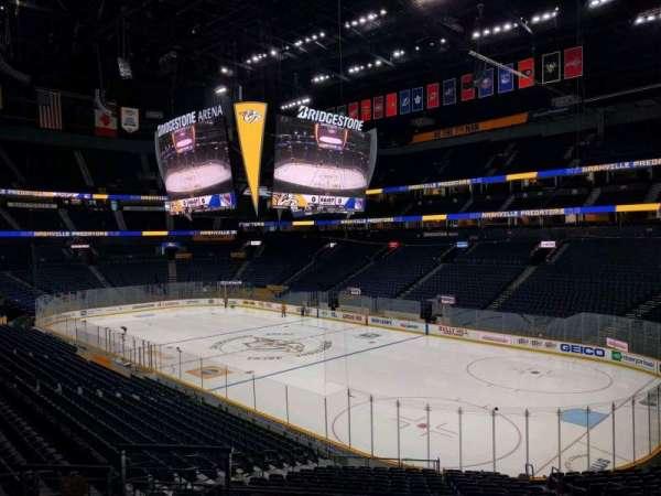 Bridgestone Arena, section: 108, row: k, seat: 6