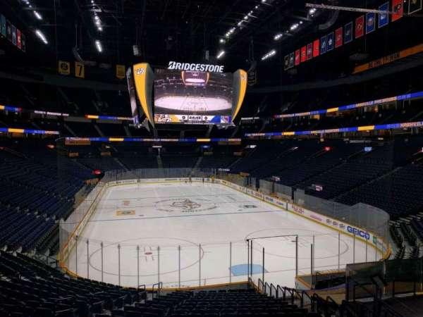Bridgestone Arena, section: 110, row: h, seat: 12