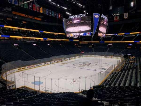 Bridgestone Arena, section: 112, row: h, seat: 7