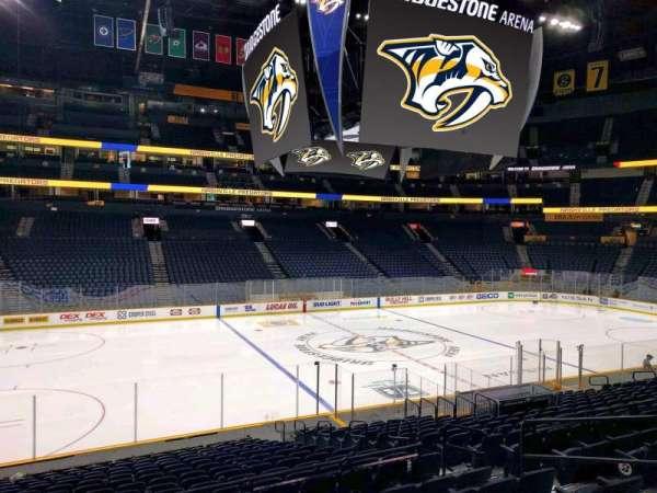 Bridgestone Arena, section: 114, row: g, seat: 6
