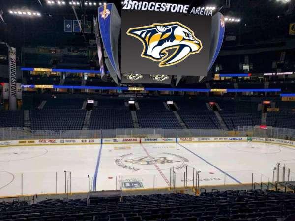 Bridgestone Arena, section: 115, row: l, seat: 9