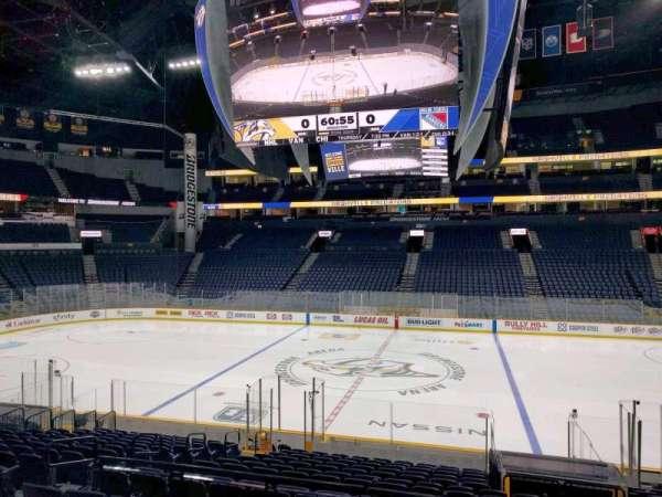 Bridgestone Arena, section: 116, row: g, seat: 9